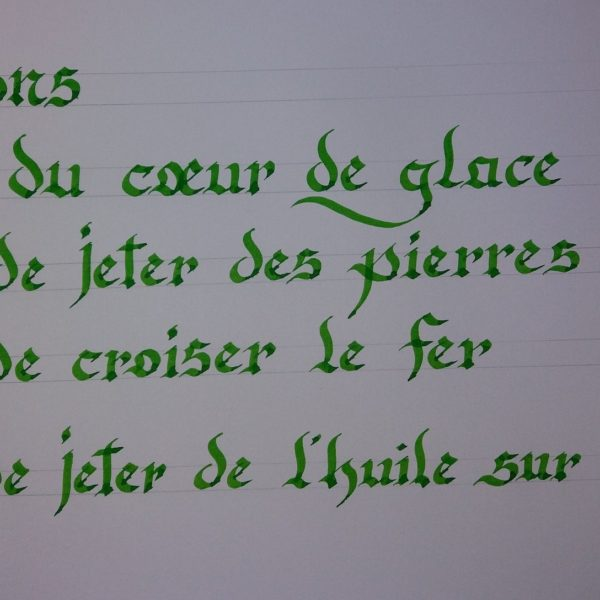 Mes phrases calligraphiées